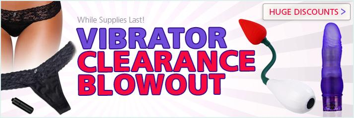sex toy vibrator clearance blowout